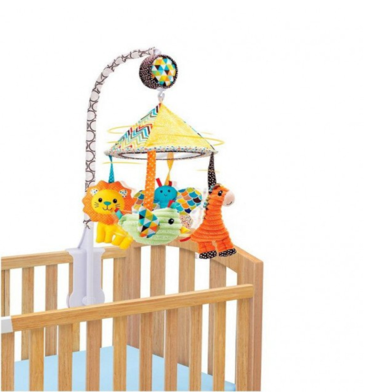 Carrusel musical cuerda multicolor, Infantino.