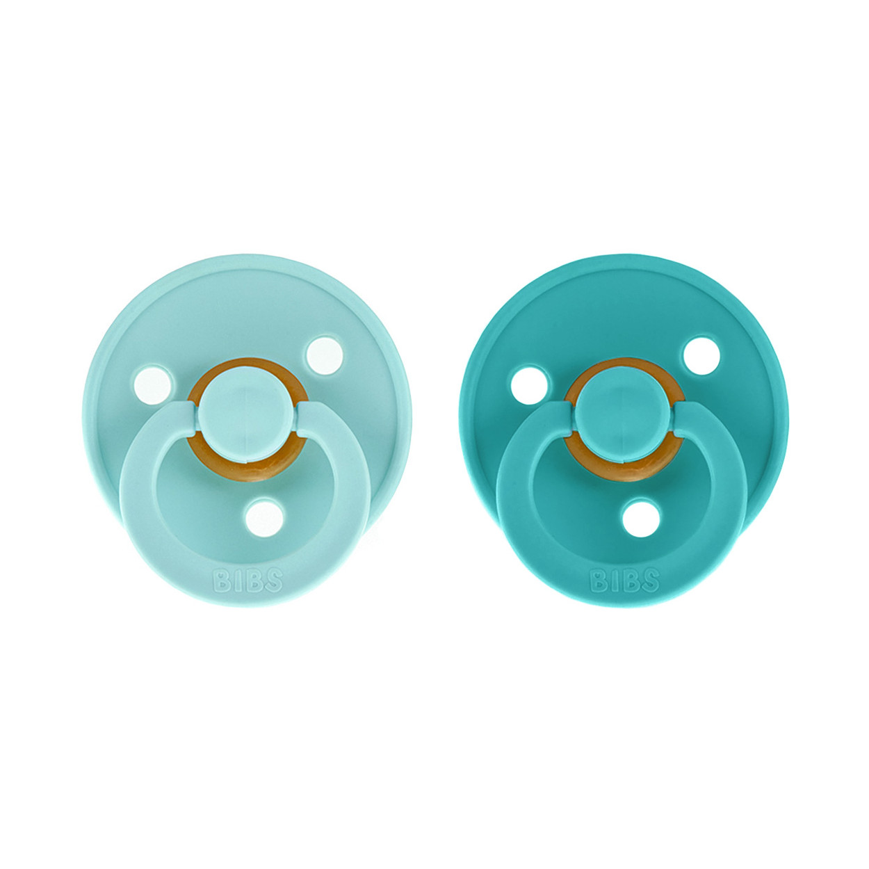 2 Chupetes BIBS Colours Baby Mint/Turquoise